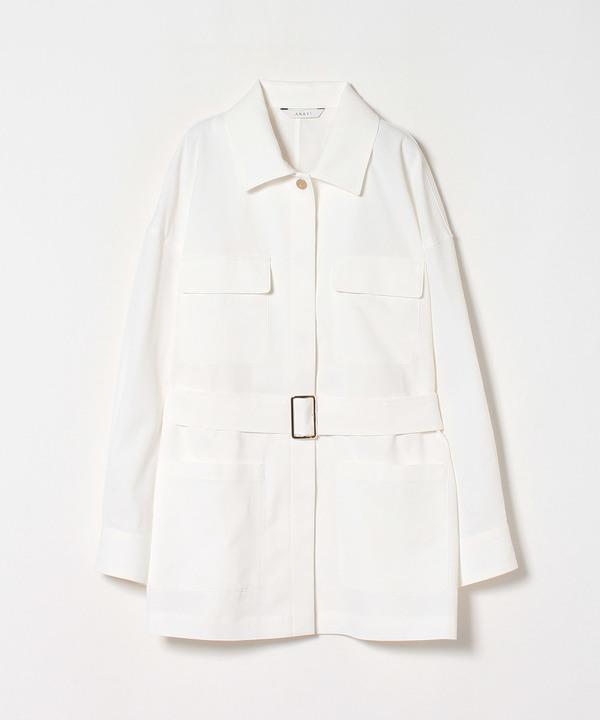 ツイルストレッチサファリシャツジャケット