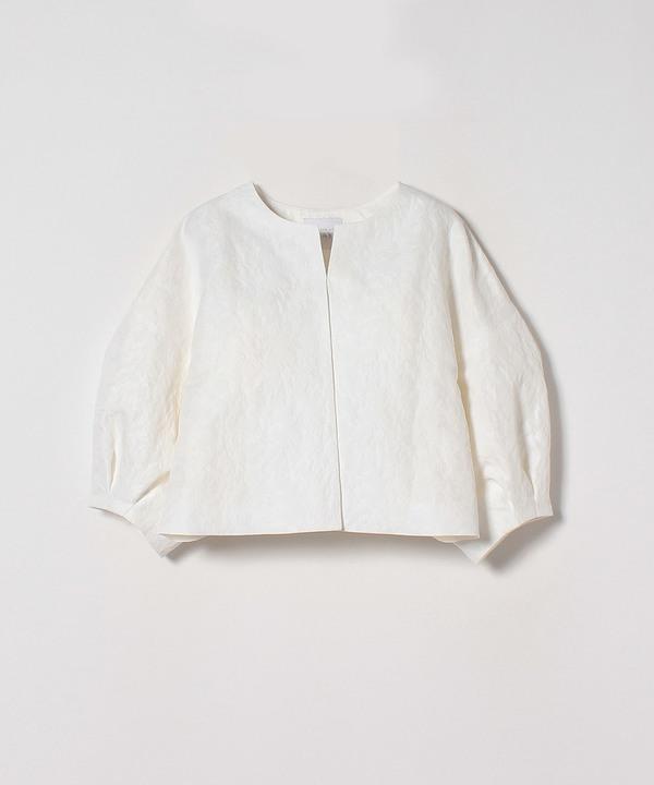 【セットアップ対応商品】ホワイトジャガードハンソデジャケット