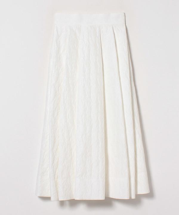 【セットアップ対応商品】ホワイトジャガードタックスカート