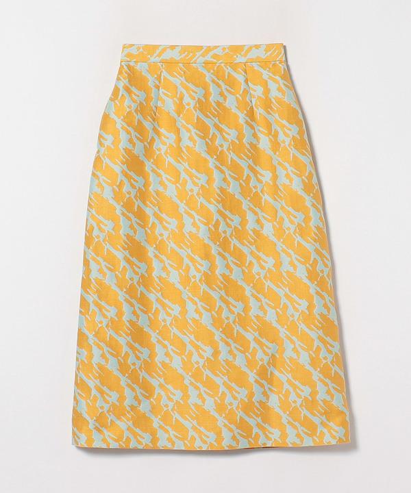 イエローミントジャカードAラインスカート