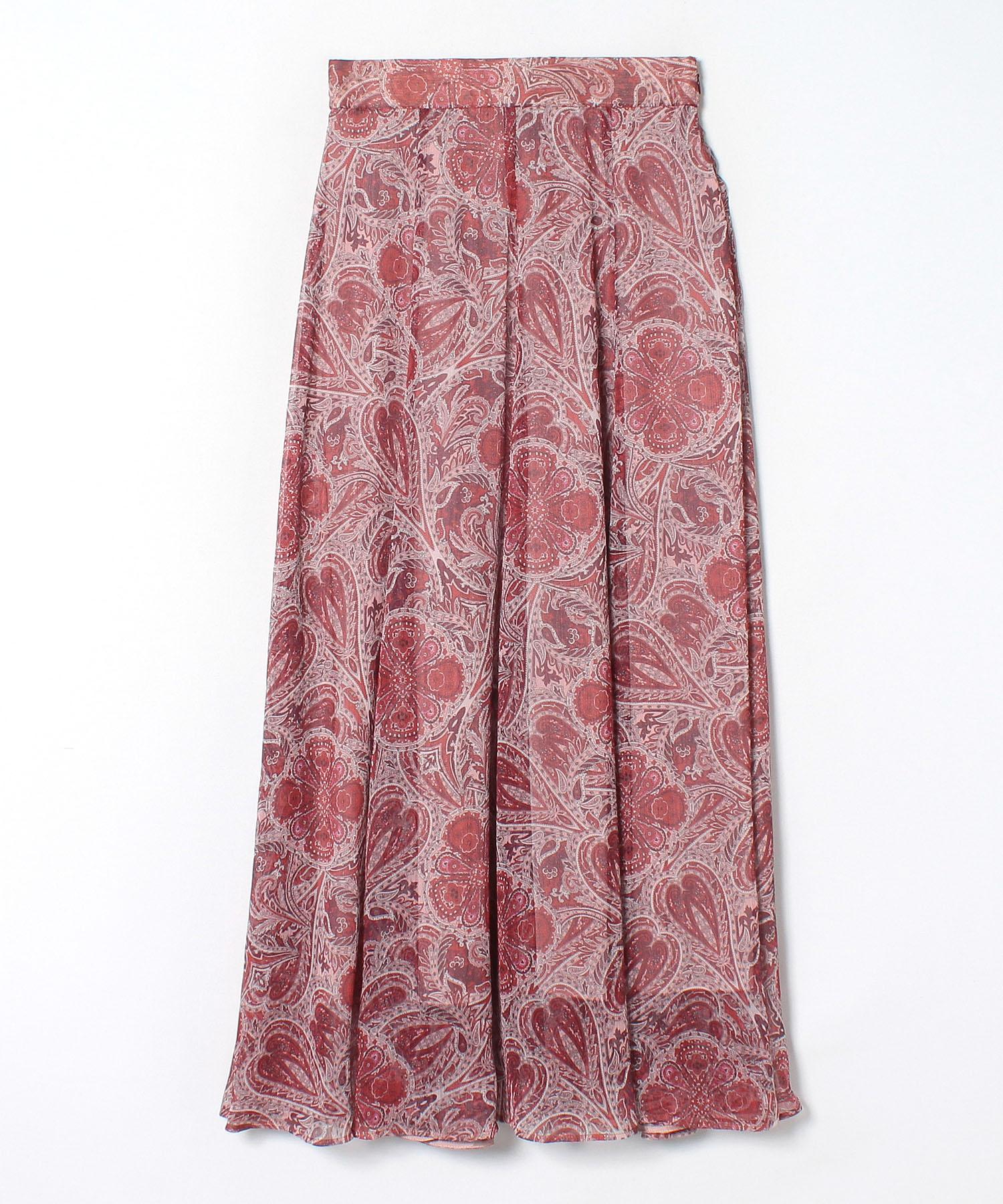 ヨーリューペイズリープリントマキシスカート