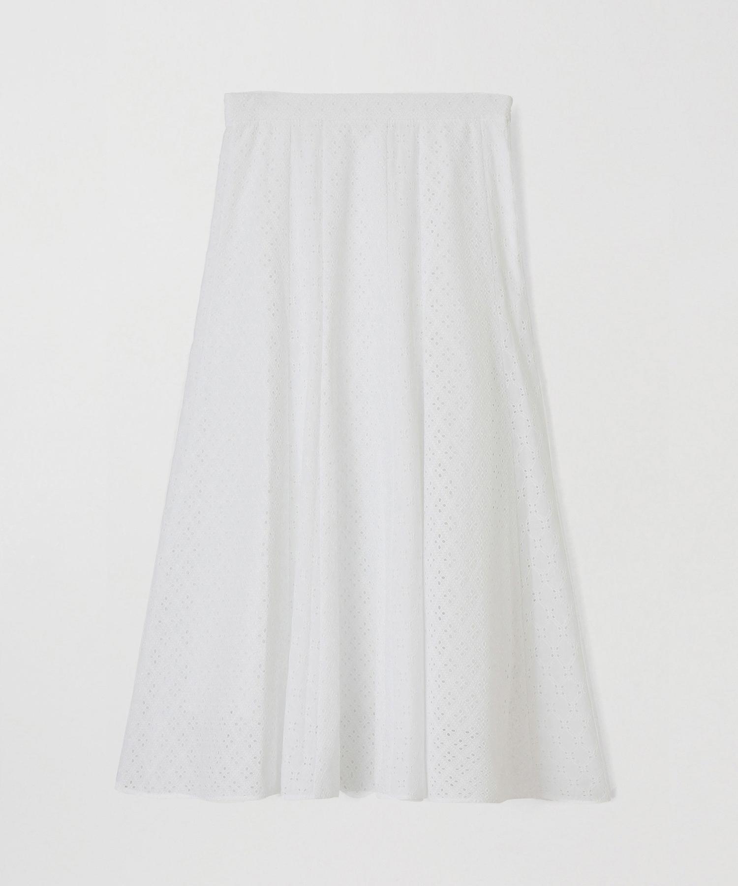 タイルレースフレアスカート