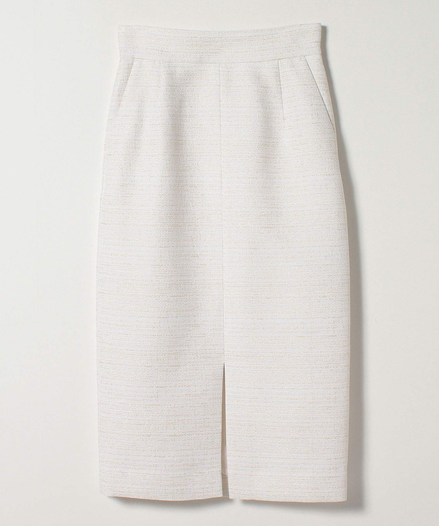 ラメツイードロングタイトスカート