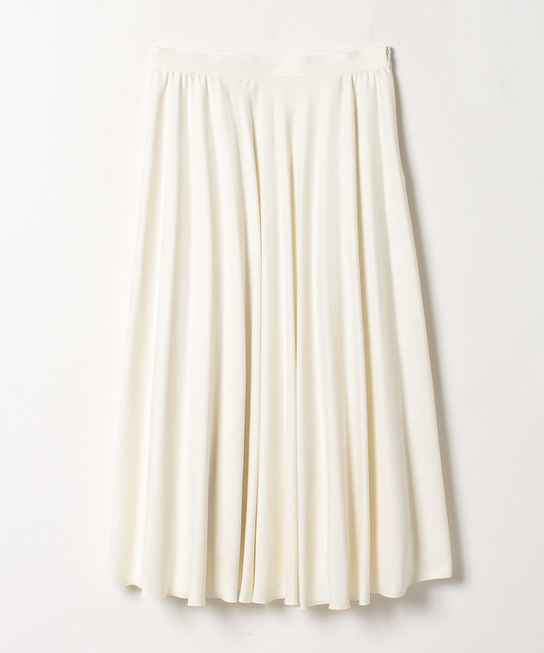 スエードチョウフレアプリーツスカート