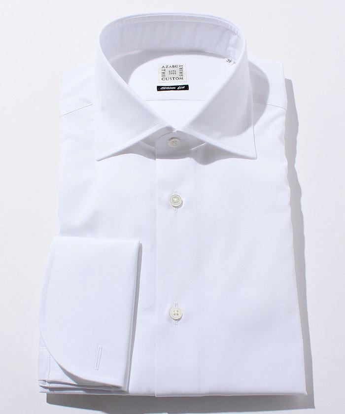長袖シャツ(ブロード) ホワイト