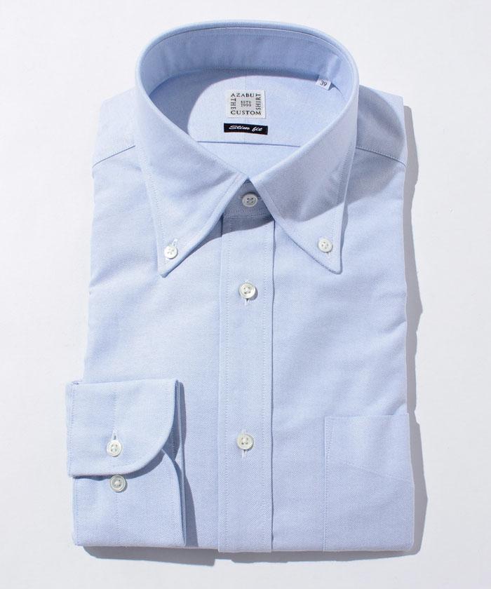 長袖シャツ(オックスフォード) ブルー