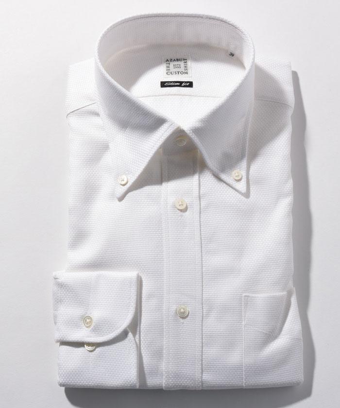 長袖シャツ(バスケットオックス) ホワイト