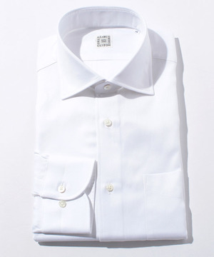 長袖シャツ(ツイル) ホワイト