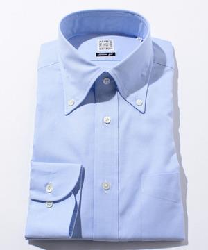 長袖シャツ(ピンオックス) ブルー
