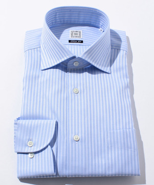 長袖シャツ(ドビーストライプ) ブルー