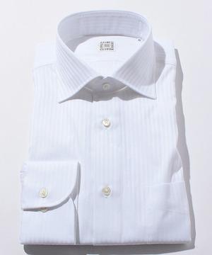 長袖シャツ(ドビーストライプ) ホワイト