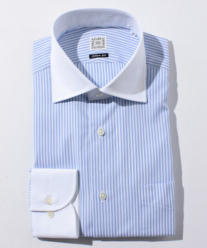 長袖シャツ(ロンドンストライプ) ブルー