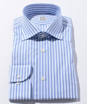 長袖シャツ(ブロックストライプ) ブルー