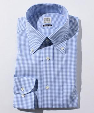 長袖シャツ(ギンガムチェック) ブルー