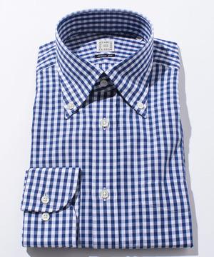 長袖シャツ(ブロックチェック) ネイビー