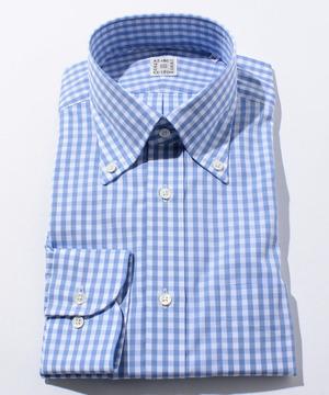 長袖シャツ(ブロックチェック) ブルー