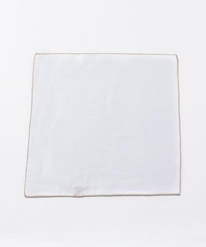カラーパイピングチーフ(リネン)【全19色展開】