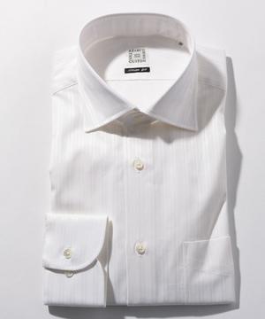 長袖シャツ(ダブルストライプ) ホワイト