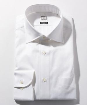 長袖シャツ(クラスターストライプ) ホワイト