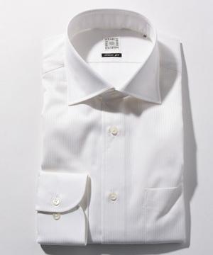 長袖シャツ(オルタネイトストライプ) ホワイト
