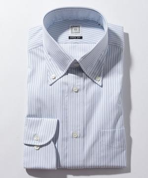 長袖シャツ(オルタネイトストライプ) ブルー