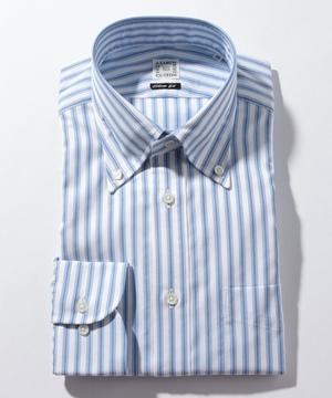 長袖シャツ(トリプルストライプ) ブルー