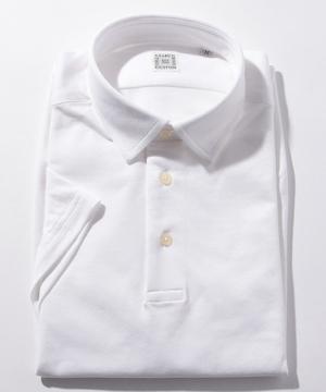 半袖プルオーバーポロシャツ(鹿の子) ホワイト
