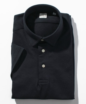 半袖プルオーバーポロシャツ(鹿の子) ネイビー