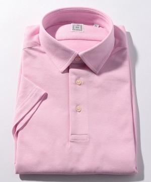 半袖プルオーバーポロシャツ(鹿の子) ピンク