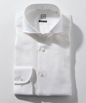 長袖シャツ(リネン) ホワイト
