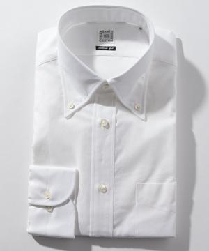 長袖シャツ(カラミ織) ホワイト