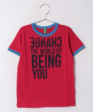 KIDSカラーメッセージ半袖Tシャツ・カットソー