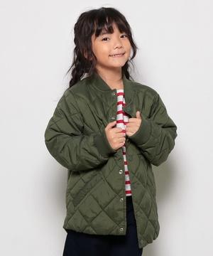 KIDSキルティングボンバージャケット