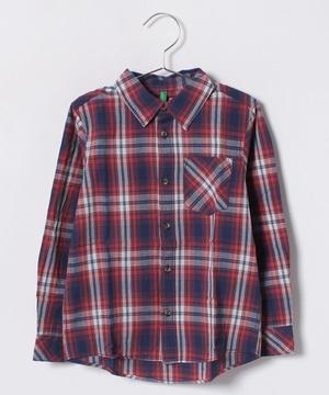 KIDSポプリンチェックシャツ