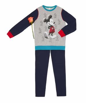 【Disney】コラボ ミッキーマウス長袖パジャマセット(公式オンライン限定)