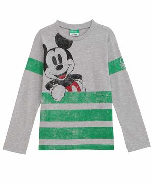【Disney】コラボ ミッキーマウス長袖Tシャツ(公式オンライン限定)