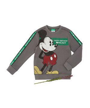 【BOYS】【Disney】コラボ ミッキーマウススウェット・トレーナー(公式オンライン限定)