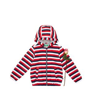 カラーボーダーフードジップジャケット