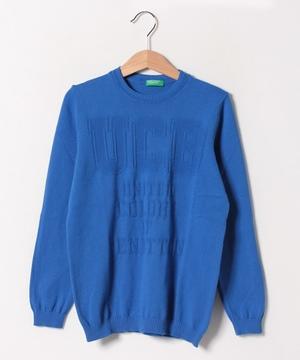 編み地変化ロゴニット・セーター