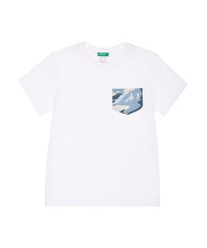 柄ポケット半袖Tシャツ・カットソー
