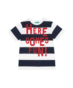 ワイドボーダープリント半袖Tシャツ・カットソー