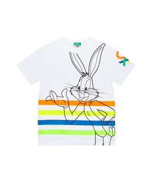【バッグス・バニーコラボ】ロゴ半袖Tシャツ