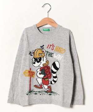 ハイキングアライグマニット・セーター