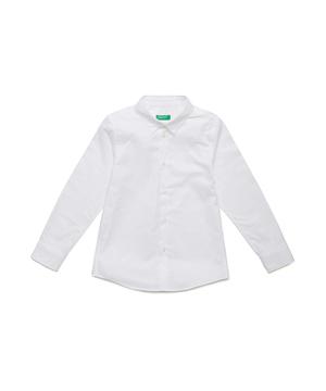 ベーシックロゴ長袖レギュラーシャツ