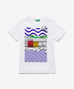 サントロペプリントTシャツ・カットソー