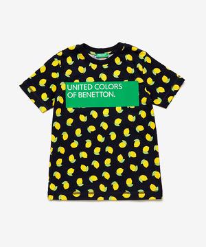 総柄ボックスロゴTシャツ・カットソー