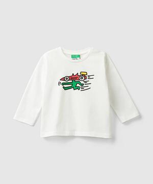 【キース・ヘリングコラボ】プリント長袖Tシャツ・カットソー