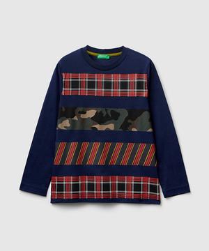 チェック&カモフラプリントTシャツ・カットソー