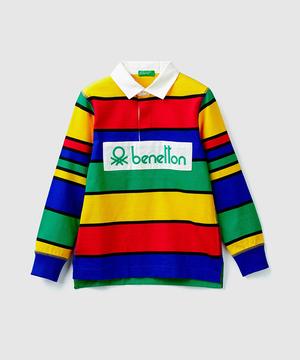 ヴィンテージロゴマルチボーダーラガーシャツ