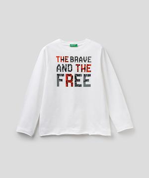 アニマルプリントカットオフ長袖Tシャツ・カットソー